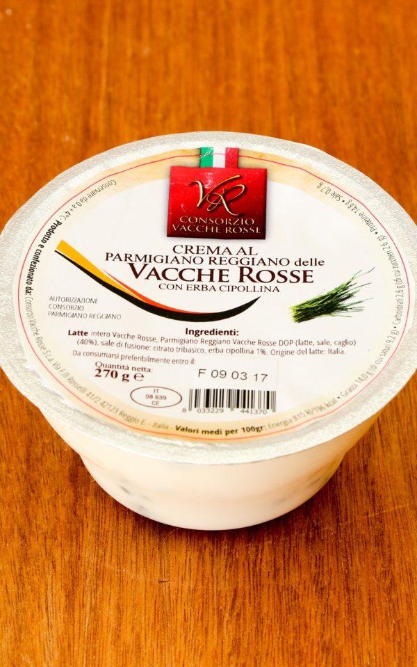 Crema al Parmigiano Reggiano delle Vacche Rosse 270g con erba cipollina