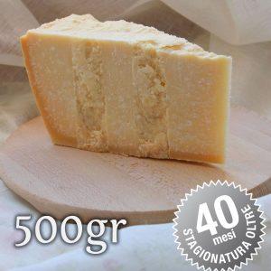 Parmigiano Reggiano Vacche Rosse oltre 40 mesi - 500gr