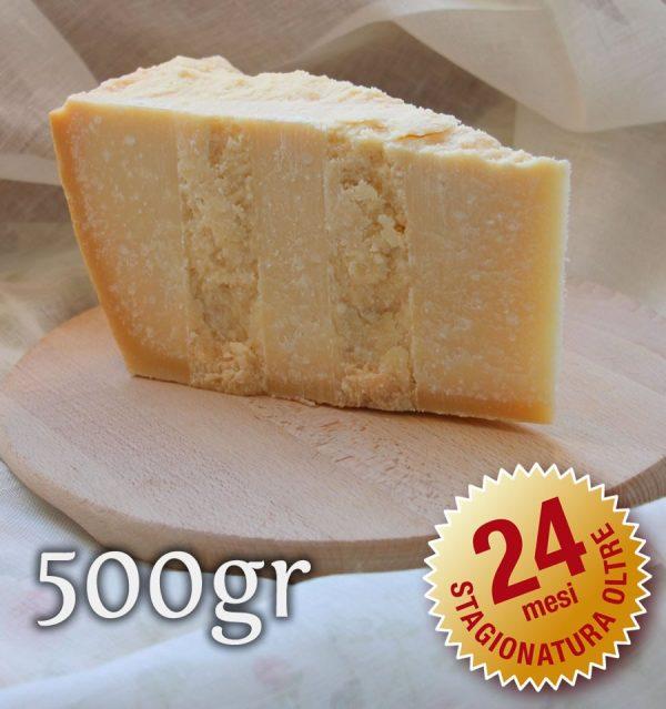 Parmigiano Reggiano Vacche Rosse oltre 24 mesi 500 gr