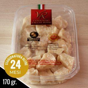 Vaschetta di Parmigiano Reggiano Vacche Rosse in comodi bocconcini