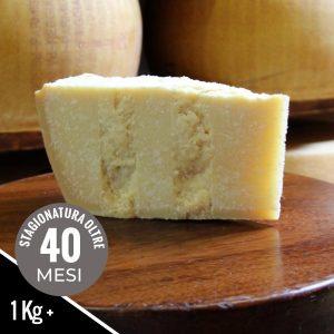 Parmigiano Reggiano stagionato 40 mesi nel formato da 1 kilo