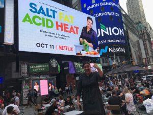 La pubblicità della serie a Times Square