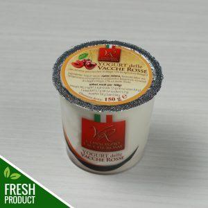 Vasetto di Yogurt Vacche Rosse con confettura di ciliegie
