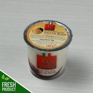 Vasetto di Yogurt Vacche Rosse con confettura di prugna