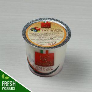 Vasetto di Yogurt Vacche Rosse con confettura di frutti di bosco